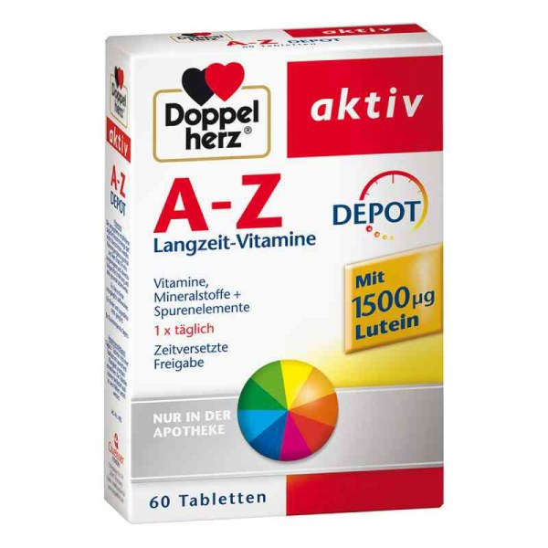 德国Doppelherz 双心维生素A-Z矿物质缓释片缓解疲劳全面补充