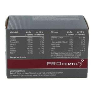 德国ProFertil 男性备孕提高精子活力胶囊(180粒)