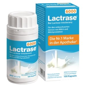 德国Lactrase 乳糖不耐受婴幼儿成人乳糖酶 100粒