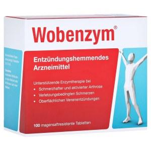 德国Wobenzym 改善关节肌肉血液循环高纯度酵素 (100 Stk)