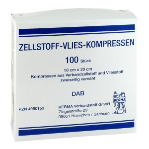 Zellstoff Vlies Kompressen 10x20cm unsteril