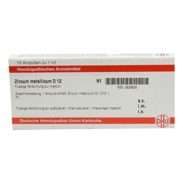 Zincum Metallicum D 12 Ampullen