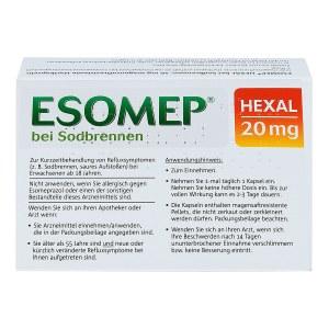 ESOMEP HEXAL bei Sodbrennen 20mg