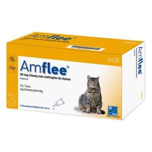 Amflee 50 mg Lösung zum Auftropfen für Katzen
