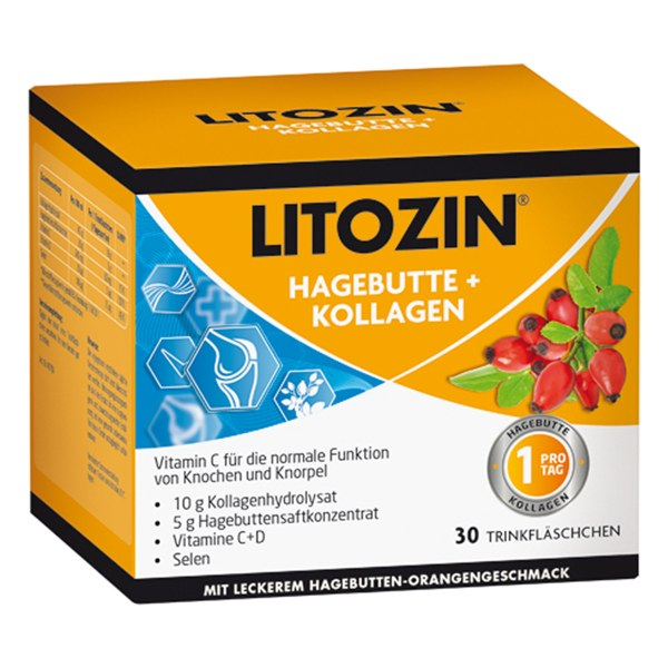 Litozin Hagebutte+kollagen Trinkfläschchen