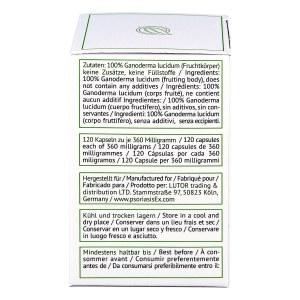 Reishi Ganoderma lucidum 360 mg Hartkapseln