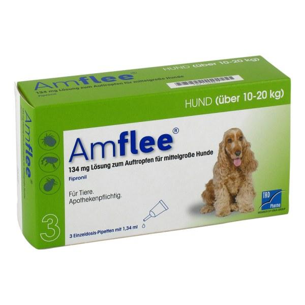 Amflee 134 mg Lösung zur, zum Auftropfen für mittelgr.Hunde