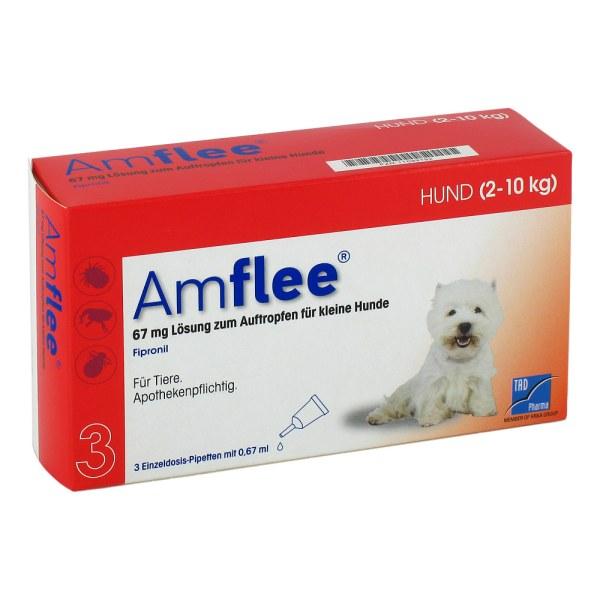Amflee 67 mg Lösung zum Auftropfen für kleine Hunde