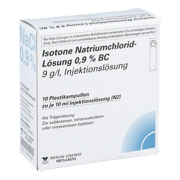 Isotone Nacl Lösung 0.9% Bc Plastik amp.inj.-lsg.