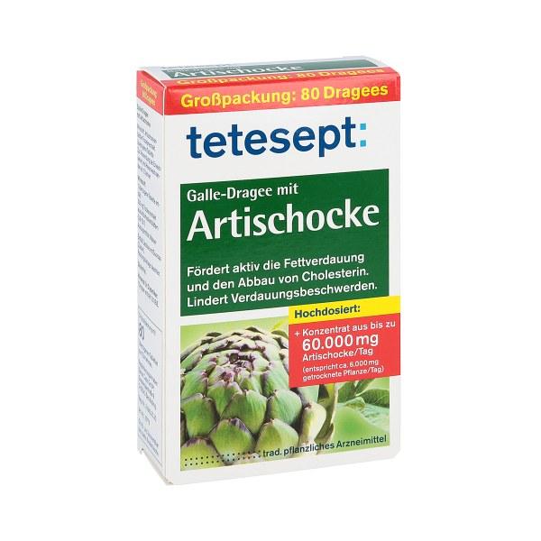 Tetesept Galle-Dragee mit Artischocke