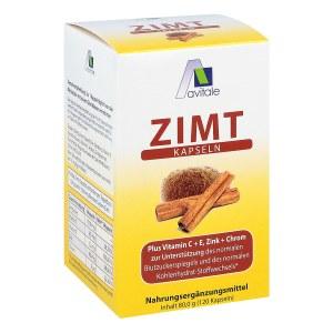 Zimt Kapseln 500 mg+Vitamin C+e