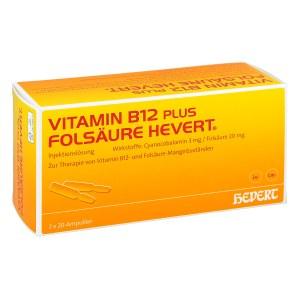 Vitamin B12 plus Folsäure Hevert [a-akut] 2 ml Amp