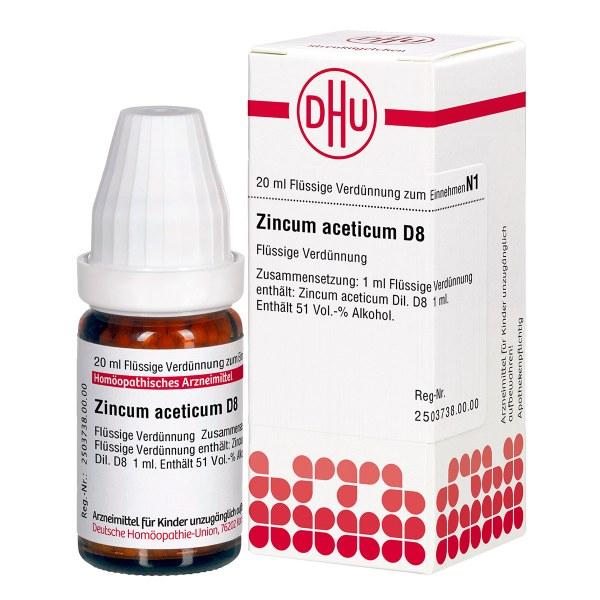 Zincum Aceticum D 8 Dilution