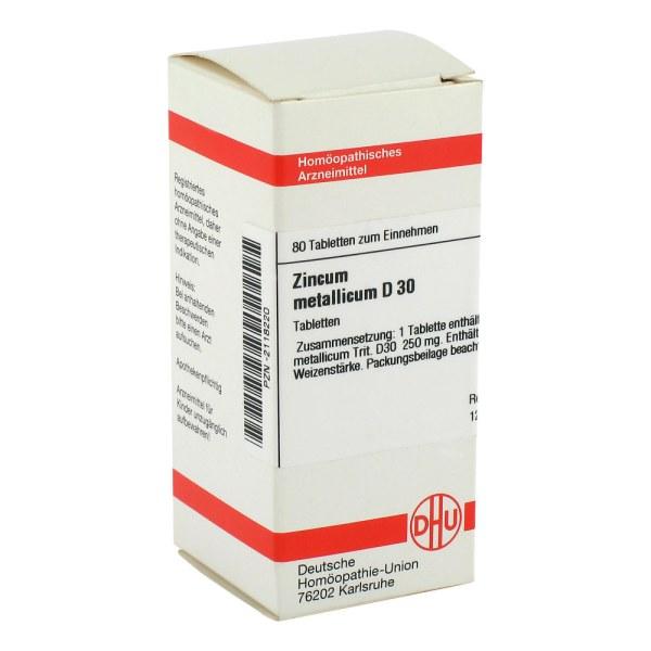Zincum Metallicum D 30 Tabletten