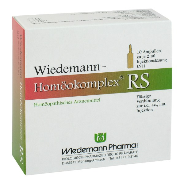 Wiedemann Homöokomplex Rs Ampullen