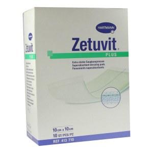 Zetuvit Plus extrastarke Saugkomp.ster.10x10 cm