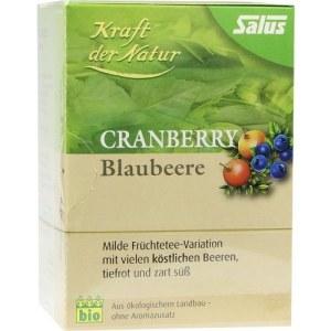 Cranberry Blaubeere Tee Kraft d.Natur Beutel salus