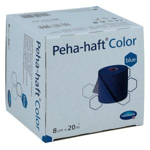 Peha Haft Color Fixierbinde latexf.8 cmx20 m blau