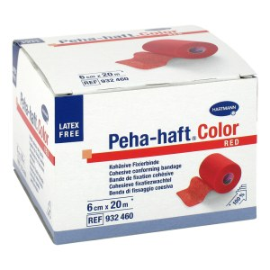 Peha Haft Color Fixierbinde latexf.6 cmx20 m rot