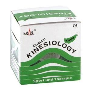 Nasara Kinesio Tape 5 cmx5 m grün inkl.Spenderbox