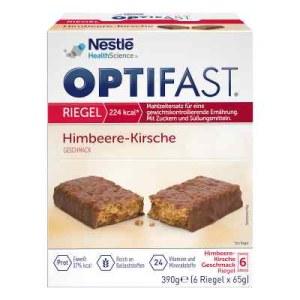 德国Optifast 覆盆子樱桃棒 (6X65 g)