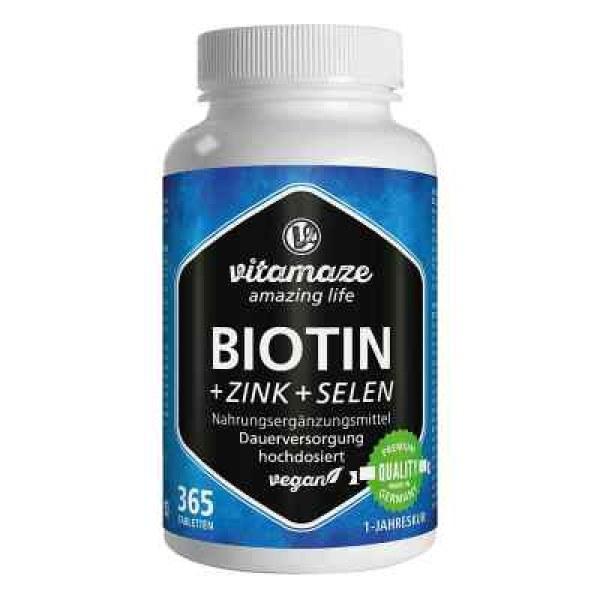 Vitamaze Biotin+zink+selen Tabletten (365 stk)