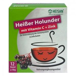 Heisan heisser Holunder+vitamin C+zink Pulver (12X10 g)