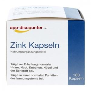 德国APO锌胶囊15mg(180 粒)