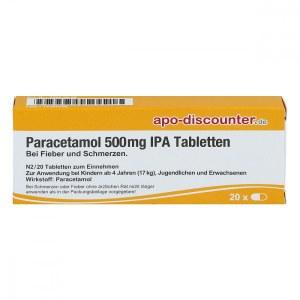 德国APO扑热息痛 退烧和止疼片(500mg, 20 片)