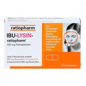 Ibu-lysin-ratiopharm 400 mg Filmtabletten (20 stk)