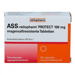 Ass-ratiopharm Protect 100 mg magensaftresistent Tabletten (100 stk)