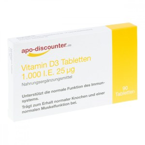 Vitamin D3 Tabletten 1000 I.e. 25 [my]g (90 stk)