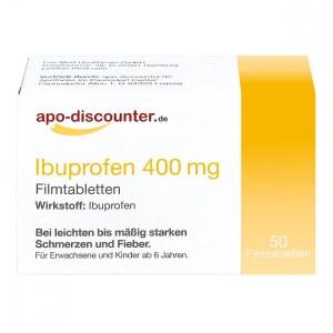 德国APO布洛芬400mg止疼薄膜包衣片(50 片)