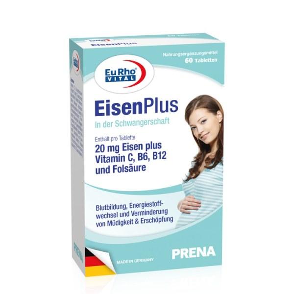 【低价促销 不退不换】德国EuRho Vital欧维孕妇多维叶酸补血铁元