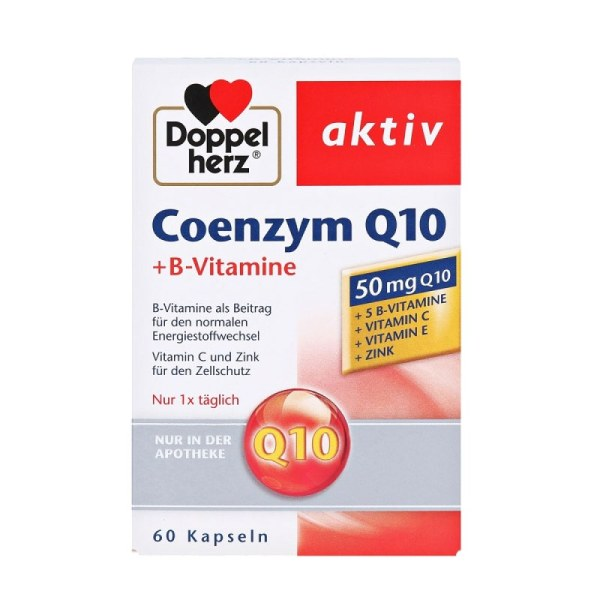 【包装破损,低价促销,不退不换】德国Doppelherz 双心辅酶Coenzym Q10细胞能量胶囊