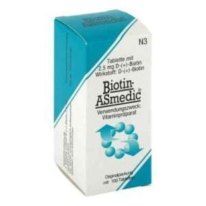 德国生物素Asmedic 2.5 mg 片剂(100 片)