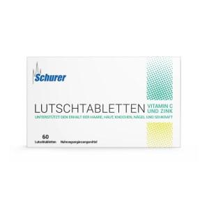 Schurer Lutschtabletten Vitamin C und Zink (60 stk)