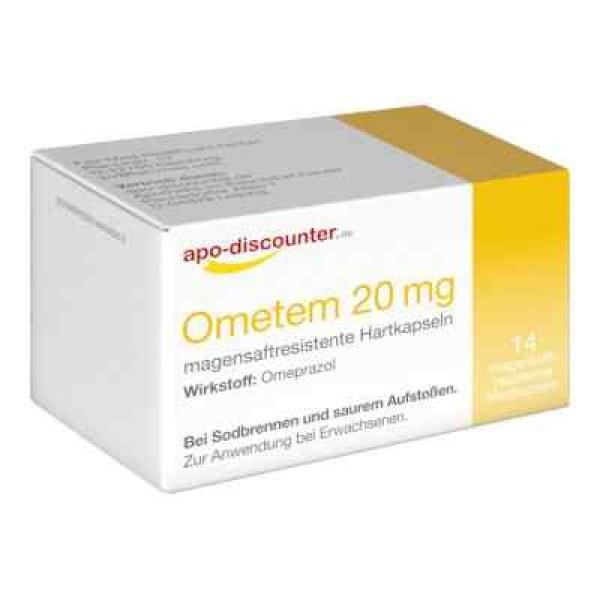 德国APO奥美拉唑20mg,用于胃灼热(14 片)