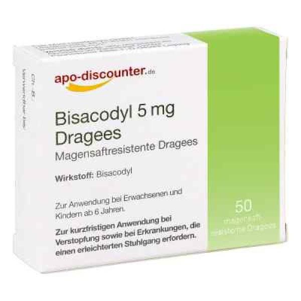 Bisacodyl 5mg Dragees von apo-discounter - bei Verstopfung (50 stk)