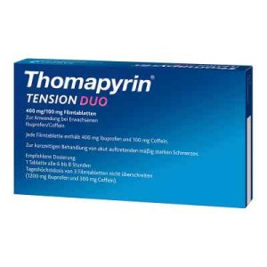 Thomapyrin TENSION DUO 400mg/100mg mit Coffein & Ibuprofen (18 stk)