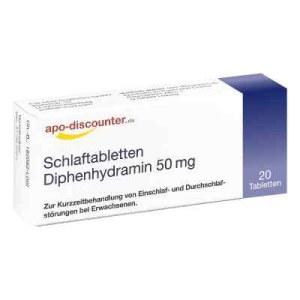 德国APO安眠药片苯海拉明 50 mg(20 片)
