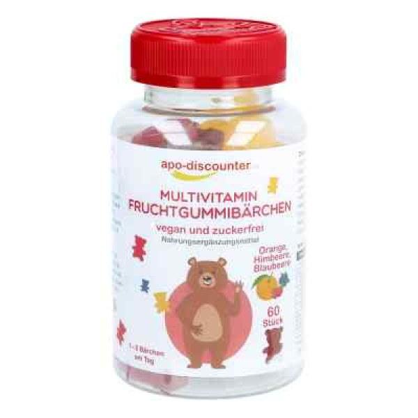 素食性无糖复合维生素小熊软糖(60 粒)