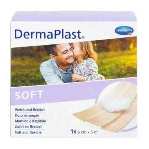Dermaplast Soft Pflaster 6 cmx5 m (1 stk)