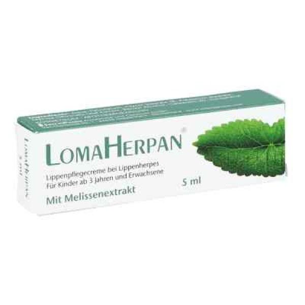 Lomaherpan Lippenpflegecreme mit Melissenextrakt (5 ml)