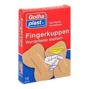 Gothaplast Fingerkuppenwundpfl.ela.2 Größe mit fingerl. (10 stk)