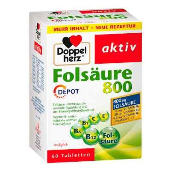 Doppelherz Folsäure 800 Depot Tabletten (60 stk)